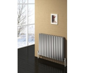Reina Nerox Brushed Stainless Steel Double Panel Radiator 600mm x 590mm