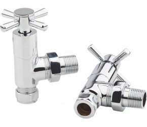 Eastgate Times Chrome Modern Crosshead Angled Valves