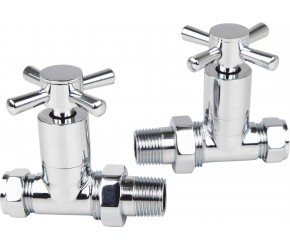 Eastgate Times Chrome Modern Crosshead Straight Valves