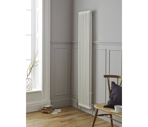 Kartell Laser Klassic White Vertical Traditional 3 Column Radiator 1800mm High x 1845mm Wide
