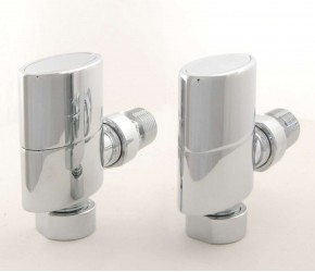 Eastgate Elliptical Chrome Angled Radiator Valves (Pair)