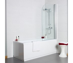 Kartell Koncept 6mm Curved Bath Screen 780mm Wide x 1400mm High