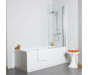Kartell Koncept 6mm Square Bath Screen 780mm Wide x 1400mm High