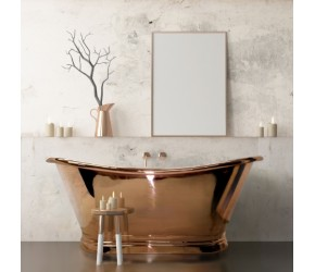 BC Designs Copper Boat Bath 1700mm x 725mm