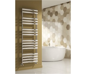 Reina Arbori Chrome Designer Towel Rail 1130mm x 500mm (1510mm x 500mm Size Shown)