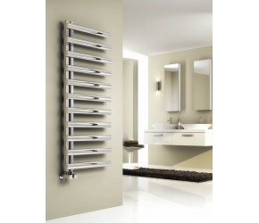Reina Cavo Brushed Stainless Steel Towel Rail 530mm x 500mm (1230mm x 500mm Size Shown)