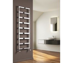 Reina Rezzo Chrome Designer Heated Towel Rail 740mm x 450mm