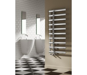 Reina Grace White Designer Heated Towel Rail 1140mm x 500mm (1140 x 500 Chrome Model Shown)