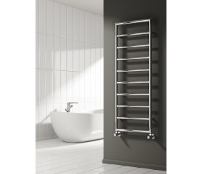 Reina Nardo Chrome Designer Heated Towel Rail 1200mm x 450mm