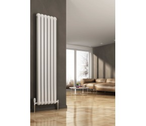 Reina Coneva White Vertical Column Radiator 1500mm x 300mm