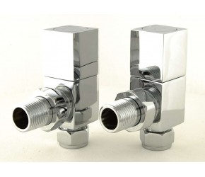 Eastgate Cubex Angled Chrome Square Valves (Pair)