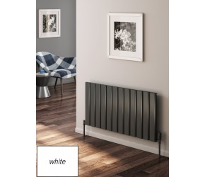 Reina Vicari White Aluminium Double Panel Horizontal Radiator 600mm x 1400mm