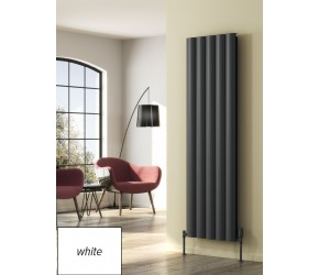 Reina Belva White Aluminium Single Panel Vertical Radiator 1800mm x 412mm