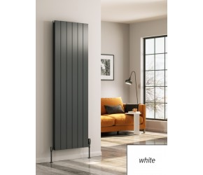 Reina Casina White Aluminium Single Panel Vertical Radiator 1800mm x 470mm