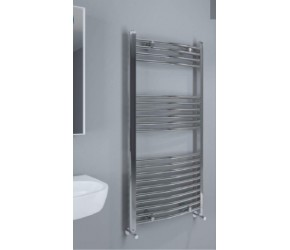 Eastbrook Wingrave Chrome Curved Heated Towel Rail 1200mm x 600mm