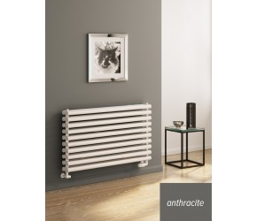 Reina Roda Anthracite Double Panel Horizontal Radiator 590mm x 1000mm