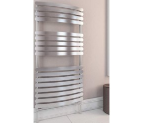Eastbrook Staverton Chrome Curved Designer Towel Rail 1200mm x 500mm