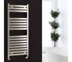 Eastbrook Staverton Chrome Flat Tube Towel Rail 600mm x 500mm