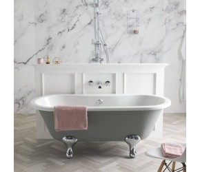 BC Designs Elmstead Double Ended Freestanding Roll Top Bath 1500mm
