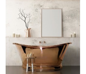 BC Designs Copper Freestanding Boat Bath 1500mm x 725mm