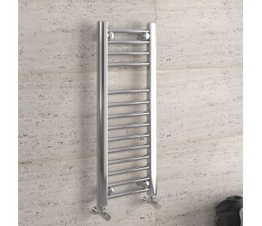 DBS Chrome Straight Heated Towel Rail 800mm x 300mm