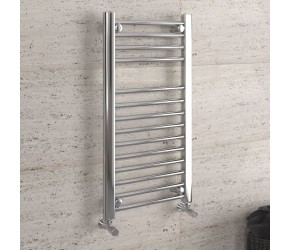 DBS Chrome Straight Heated Towel Rail 800mm x 400mm