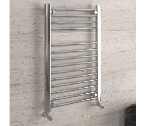 DBS Chrome Straight Heated Towel Rail 800mm x 500mm