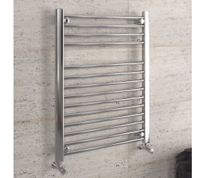 DBS Chrome Straight Heated Towel Rail 800mm x 600mm