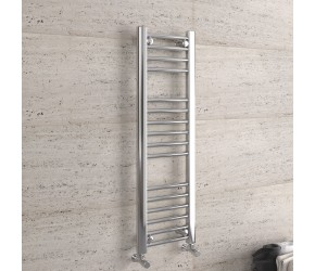 DBS Chrome Straight Heated Towel Rail 1000mm x 300mm