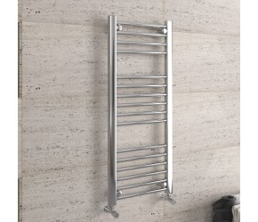 DBS Chrome Straight Heated Towel Rail 1000mm x 400mm
