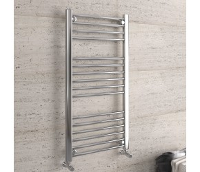 DBS Chrome Straight Heated Towel Rail 1000mm x 500mm