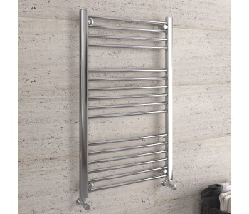 DBS Chrome Straight Heated Towel Rail 1000mm x 600mm