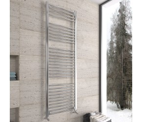 DBS Chrome Straight Heated Towel Rail 1800mm x 600mm