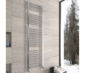 DBS Chrome Straight Heated Towel Rail 1800mm x 500mm