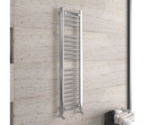 DBS Chrome Straight Heated Towel Rail 1200mm x 300mm
