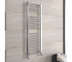 DBS Chrome Straight Heated Towel Rail 1200mm x 400mm