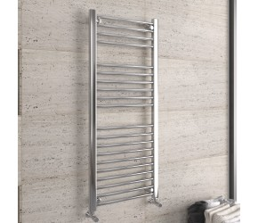 DBS Chrome Straight Heated Towel Rail 1200mm x 500mm