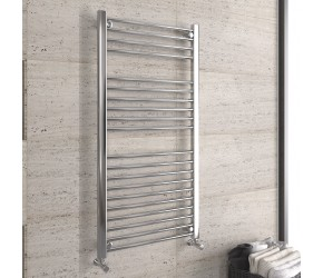DBS Chrome Straight Heated Towel Rail 1200mm x 600mm