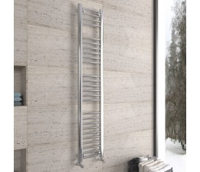 DBS Chrome Straight Heated Towel Rail 1600mm x 300mm