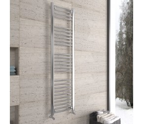 DBS Chrome Straight Heated Towel Rail 1600mm x 400mm