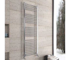DBS Chrome Straight Heated Towel Rail 1600mm x 500mm