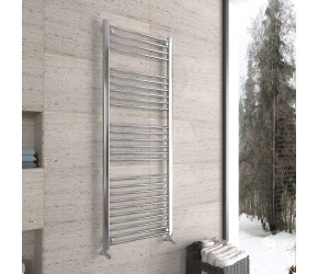 DBS Chrome Straight Heated Towel Rail 1600mm x 600mm