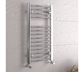 DBS Chrome Curved Heated Towel Rail 800mm x 400mm