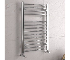 DBS Chrome Curved Heated Towel Rail 800mm x 500mm