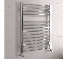 DBS Chrome Curved Heated Towel Rail 800mm x 600mm