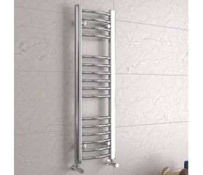 DBS Chrome Curved Heated Towel Rail 1000mm x 300mm