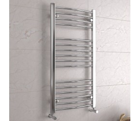 DBS Chrome Curved Heated Towel Rail 1000mm x 500mm