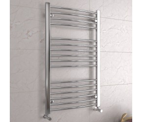 DBS Chrome Curved Heated Towel Rail 1000mm x 600mm