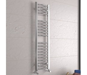 DBS Chrome Curved Heated Towel Rail 1200mm x 300mm