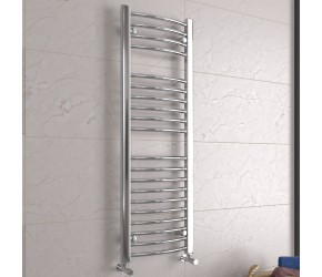 DBS Chrome Curved Heated Towel Rail 1200mm x 400mm